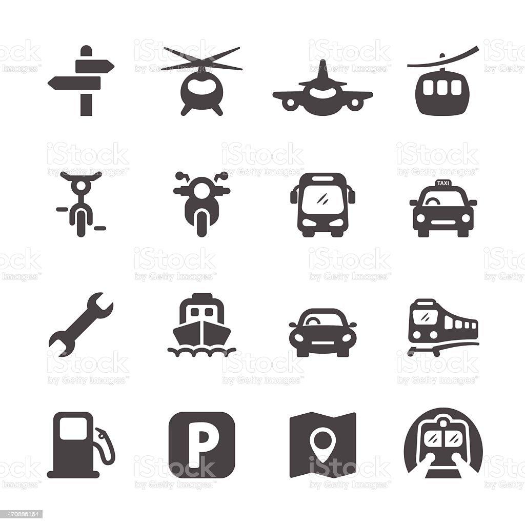 transportation icon set 2, vector eps 10 vector art illustration