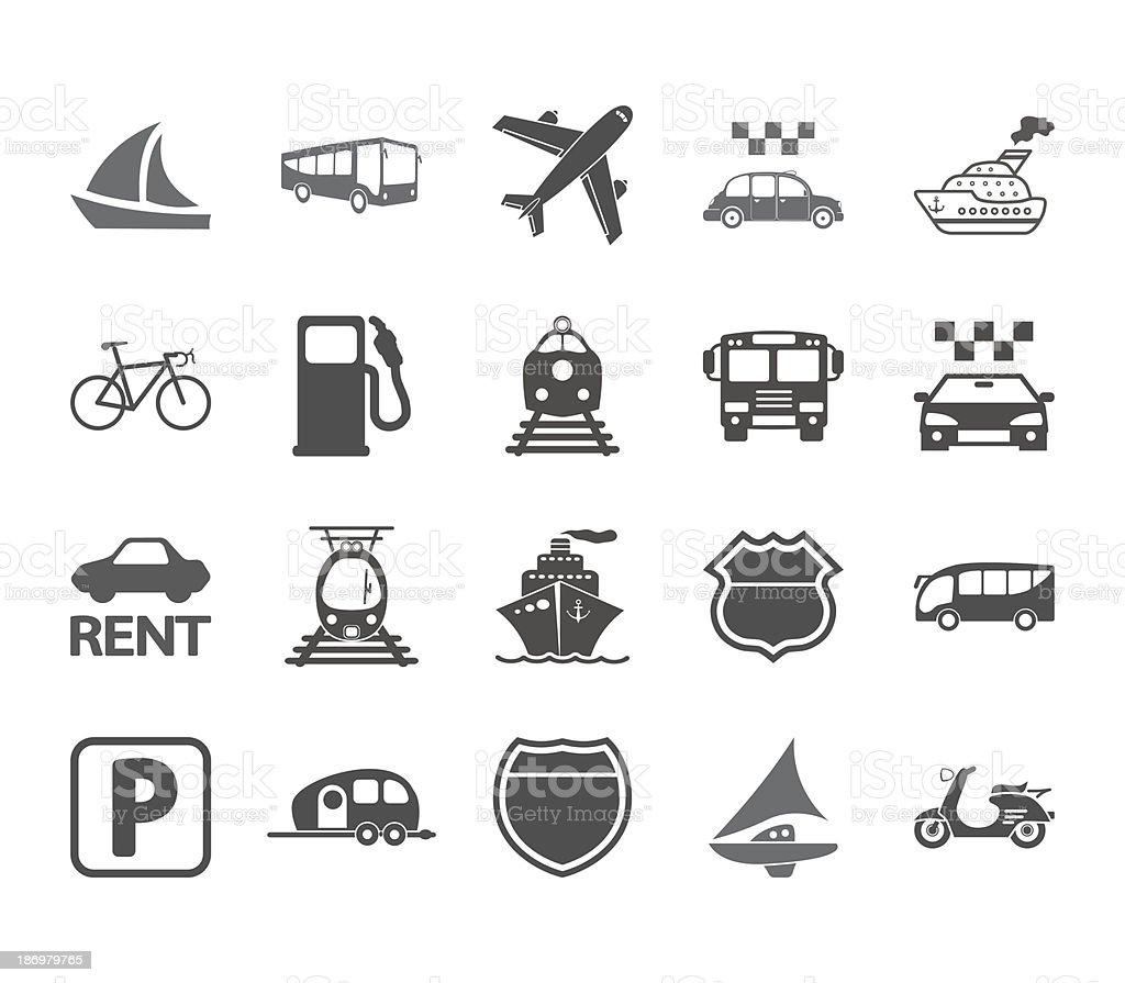 Transportation icon set. vector art illustration