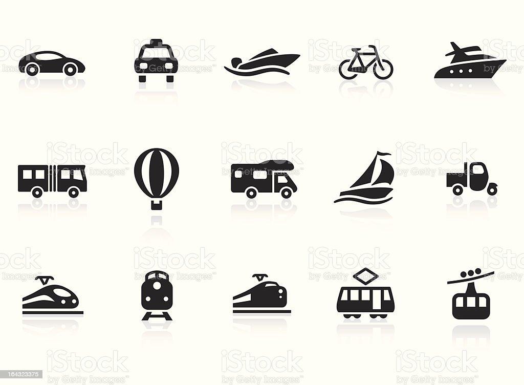 Transportation icons 2 vector art illustration