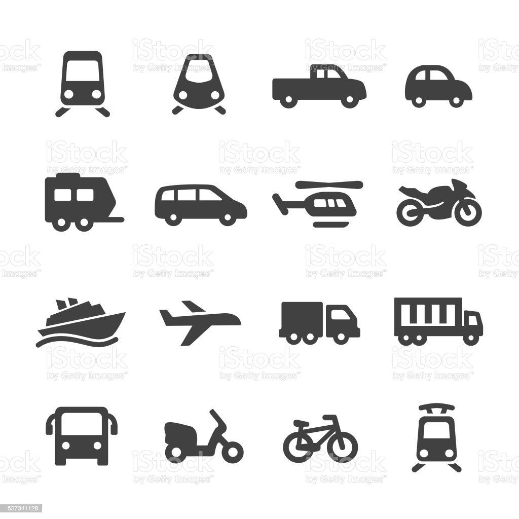 Transportation Icons - Acme Series vector art illustration