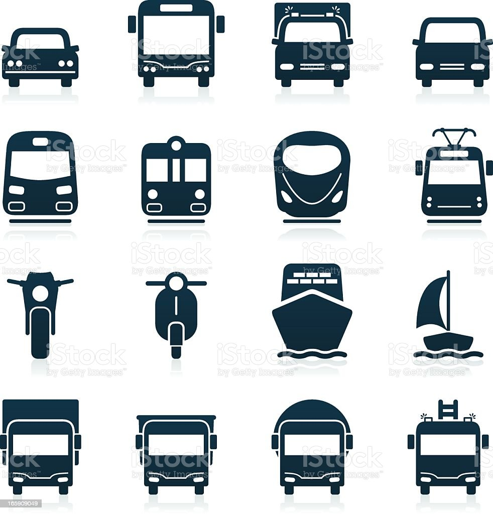 Transportation Icons | black series royalty-free stock vector art