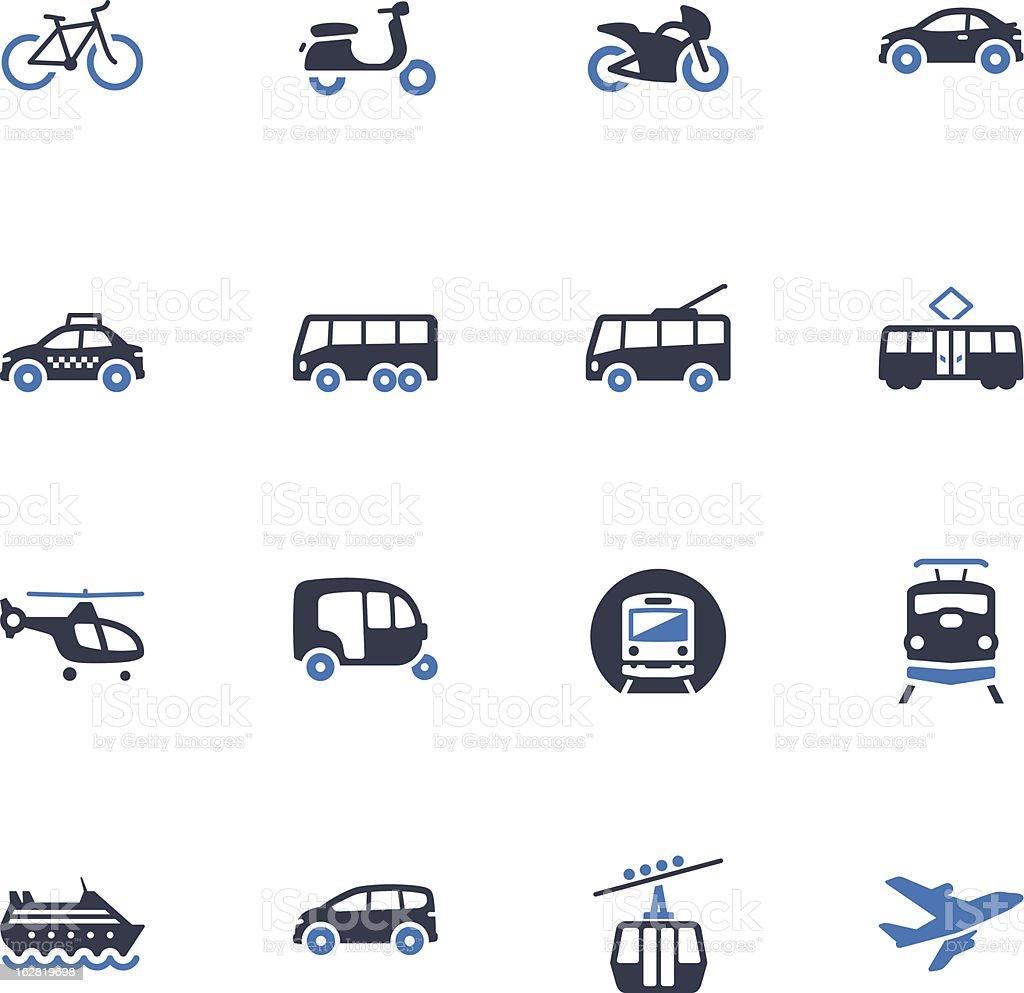 Transportation Icons - Blue Series royalty-free stock vector art