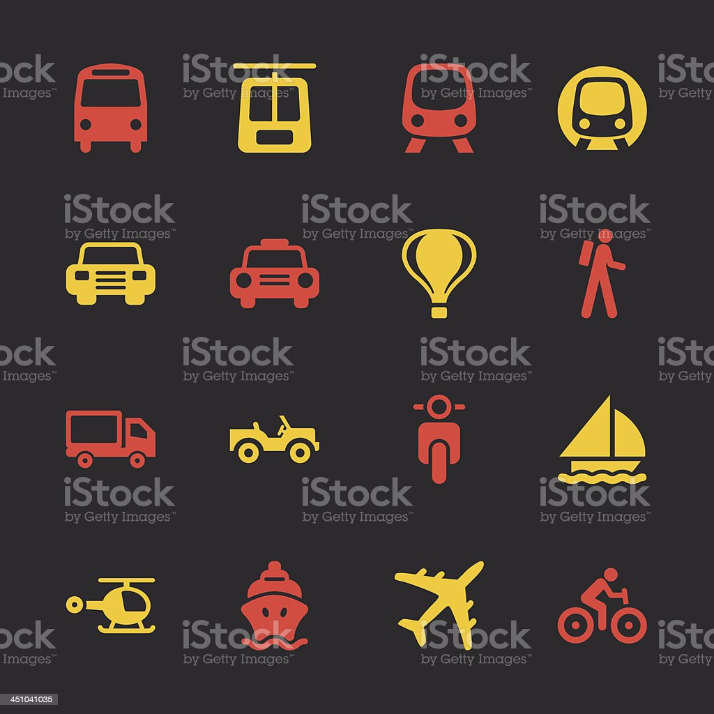 Transportation Icons - Color Series   EPS10 royalty-free stock vector art