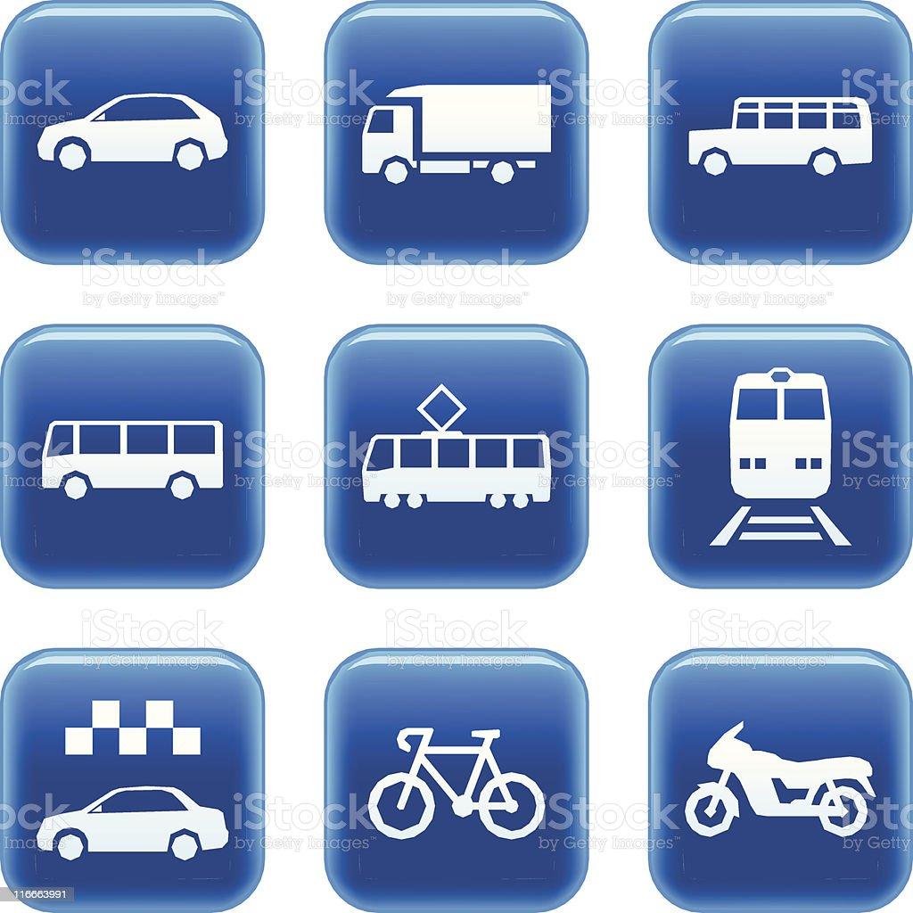 Transportation icons. Land vehicles series royalty-free stock vector art