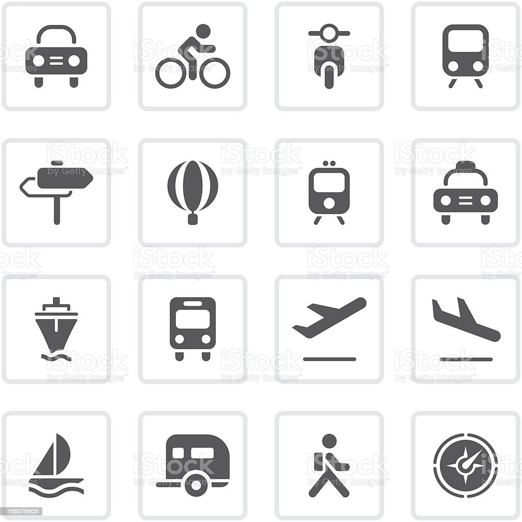 Transportation icons | prime series royalty-free stock vector art