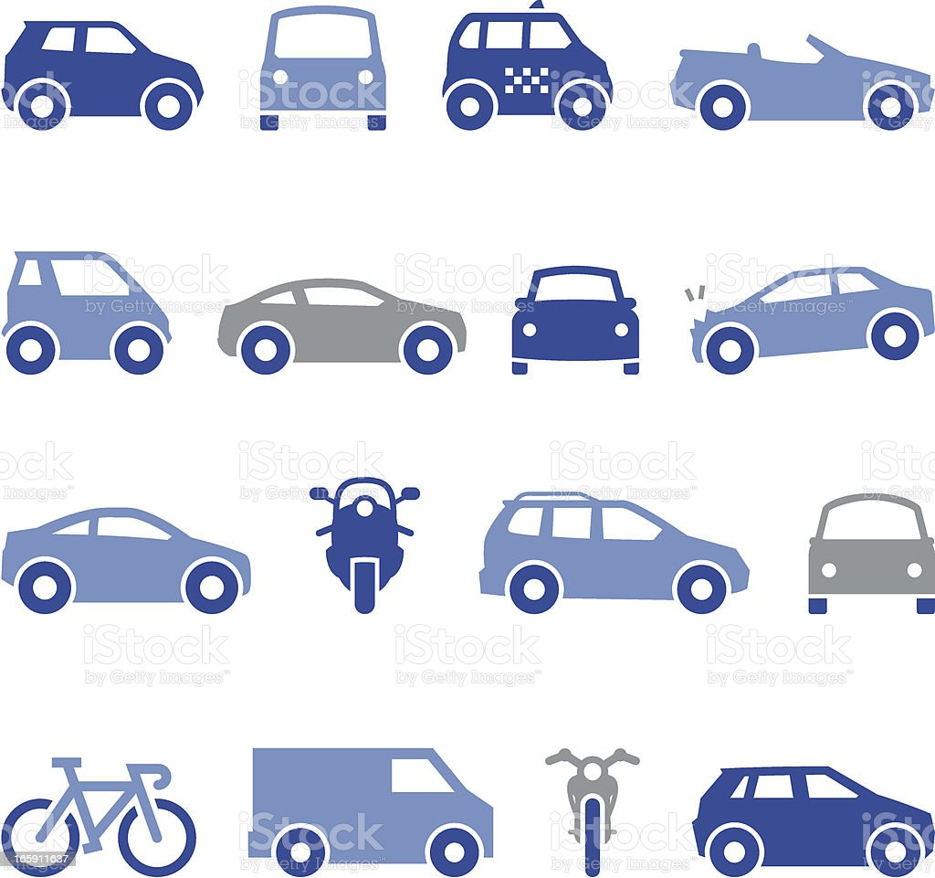 Transportation Icons - Pro Series vector art illustration