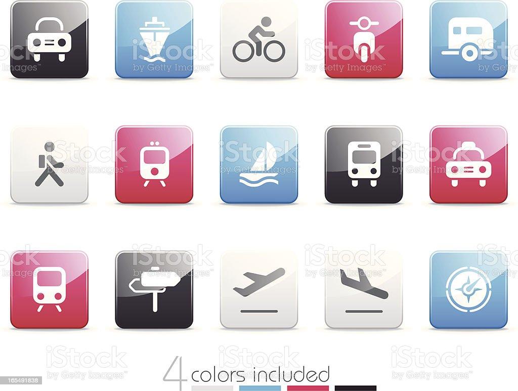 Transportation icons | Senso series royalty-free stock vector art