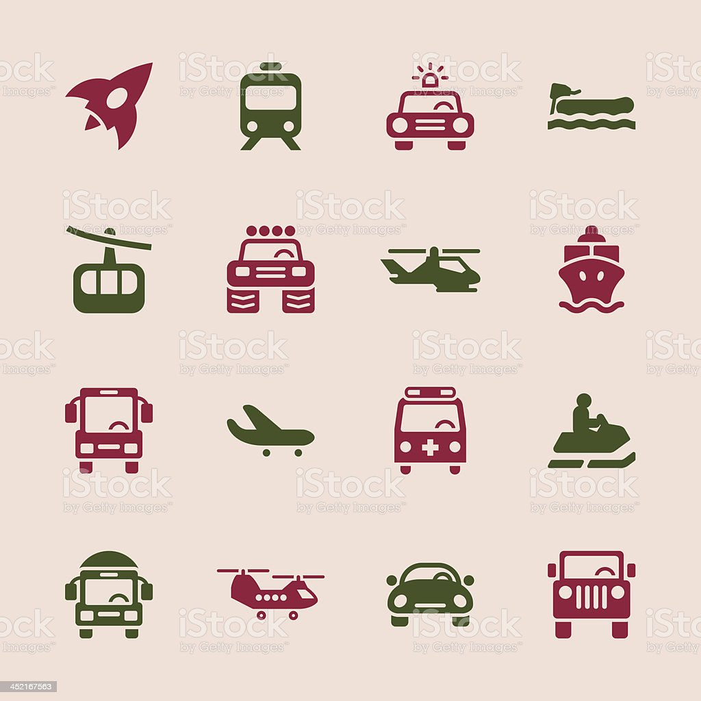 Transportation Icons Set 2 - Color Series | EPS10 royalty-free stock vector art
