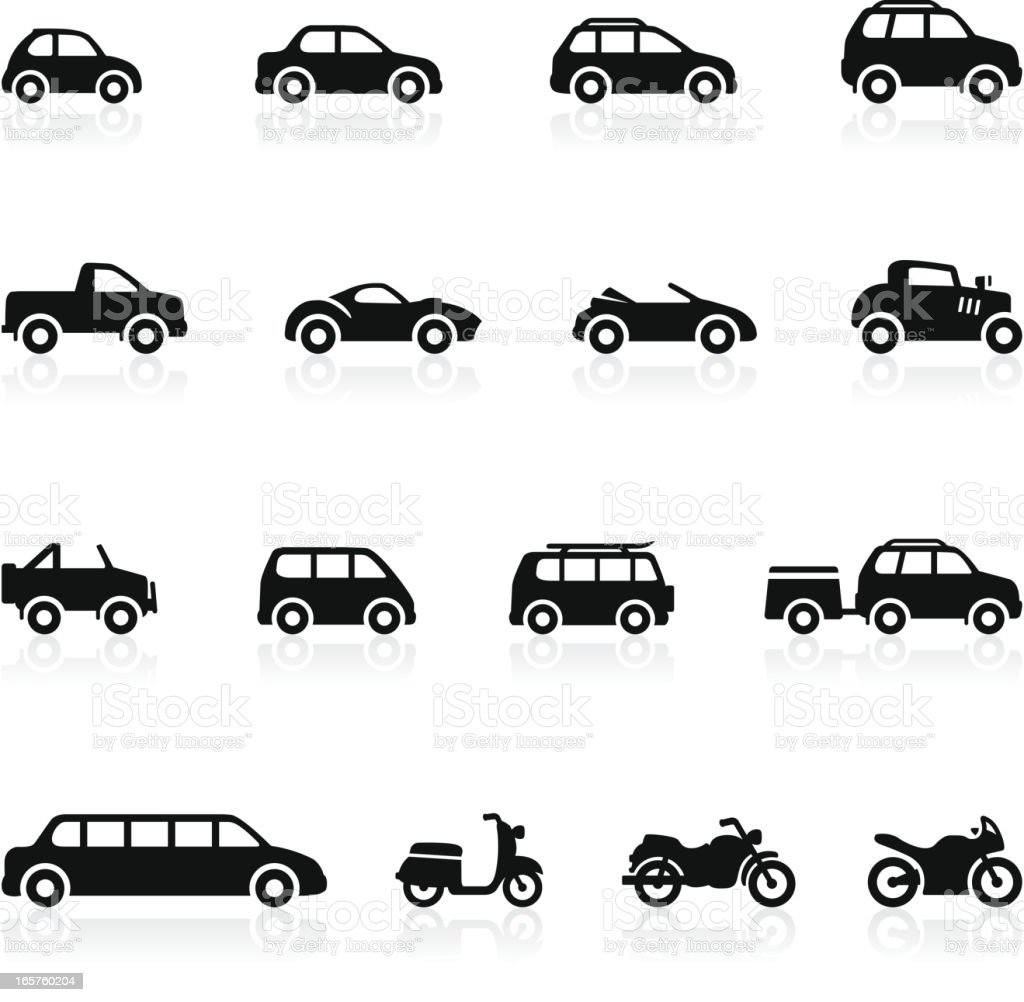 Transportation icons - Set 2 vector art illustration