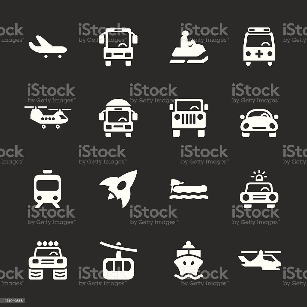 Transportation Icons Set 2 - White Series | EPS10 royalty-free stock vector art