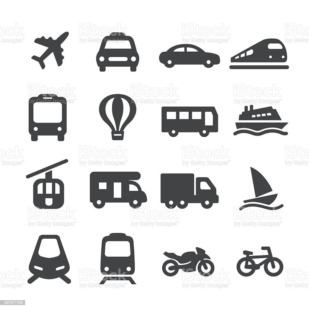 Transportation Icons Set - Acme Series vector art illustration