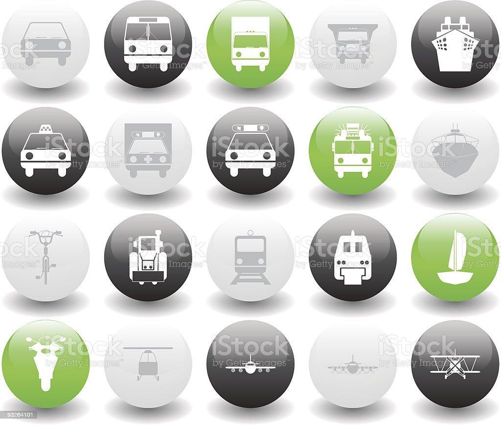 transportation icons set royalty-free stock vector art