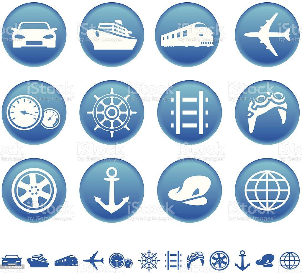 Icônes de transport stock vecteur libres de droits libre de droits
