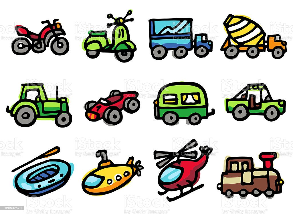 transportation icons royalty-free stock vector art