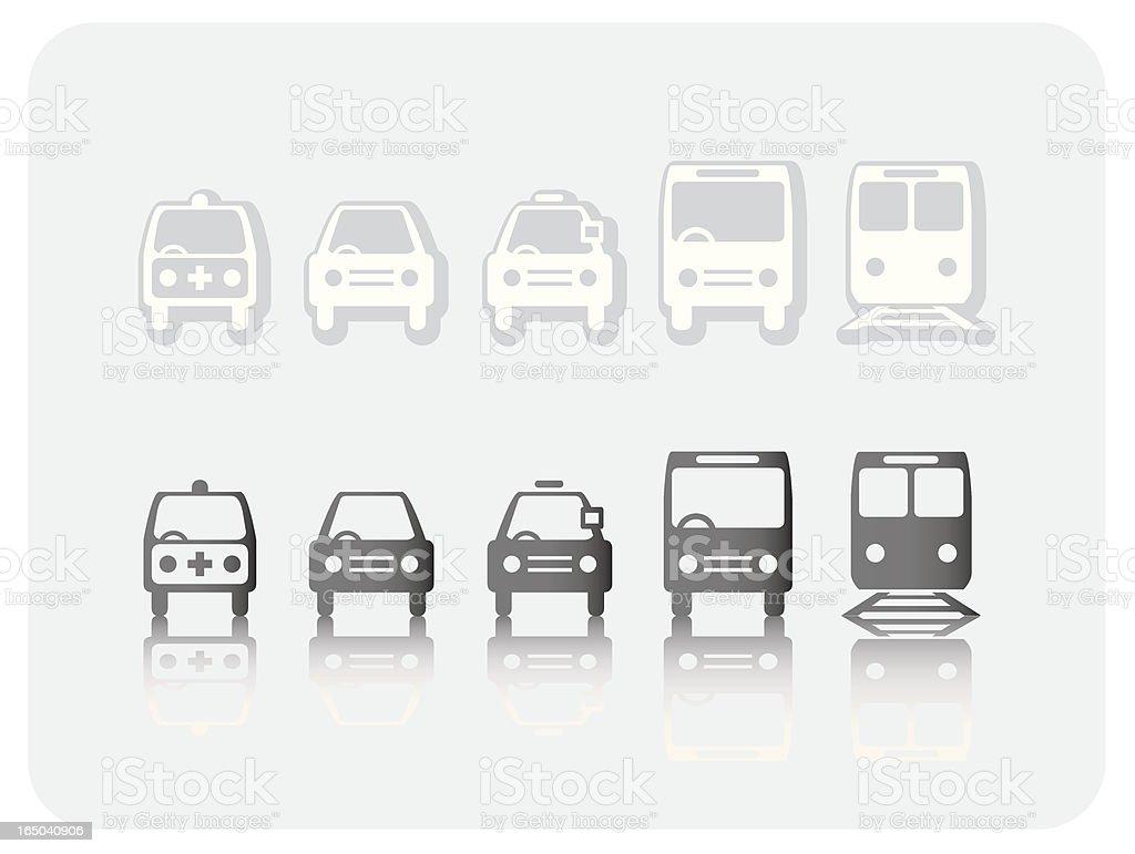 Transportation icons (Vector) royalty-free stock vector art