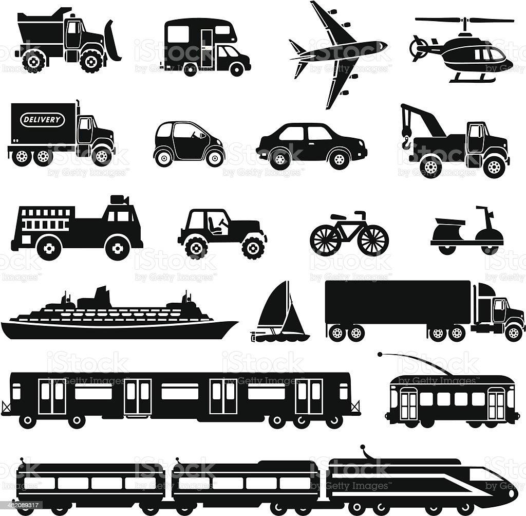 transportation icons royalty-free stock vector art