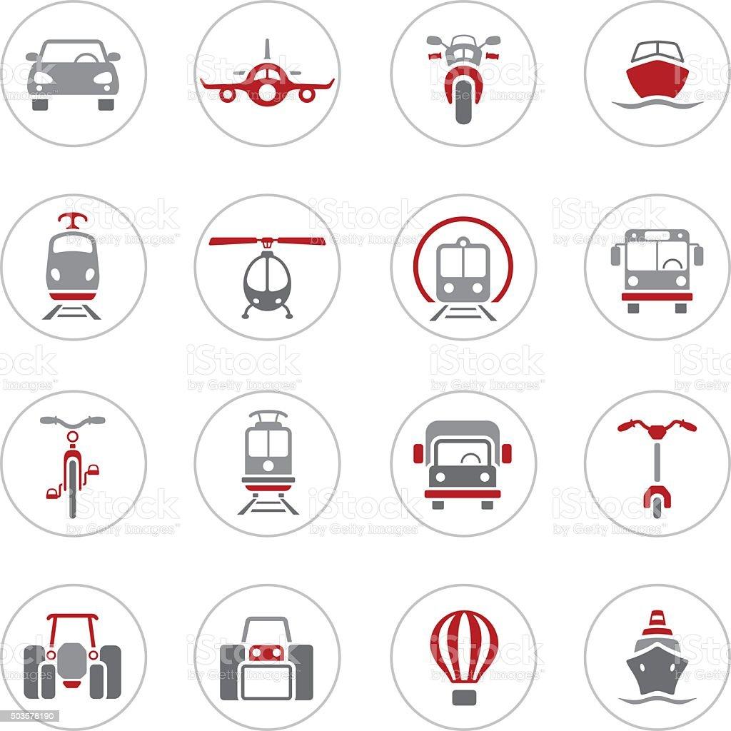 Transportation Icons vector art illustration