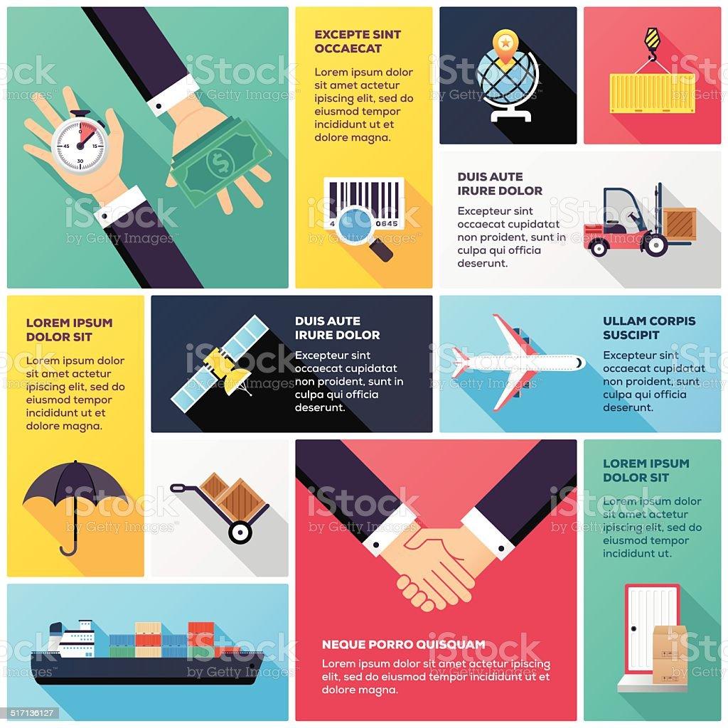 Transportation Infographic vector art illustration