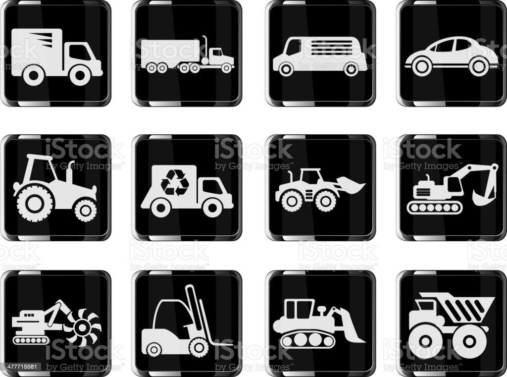 Transportation & Loading Machines Icons royalty-free stock vector art