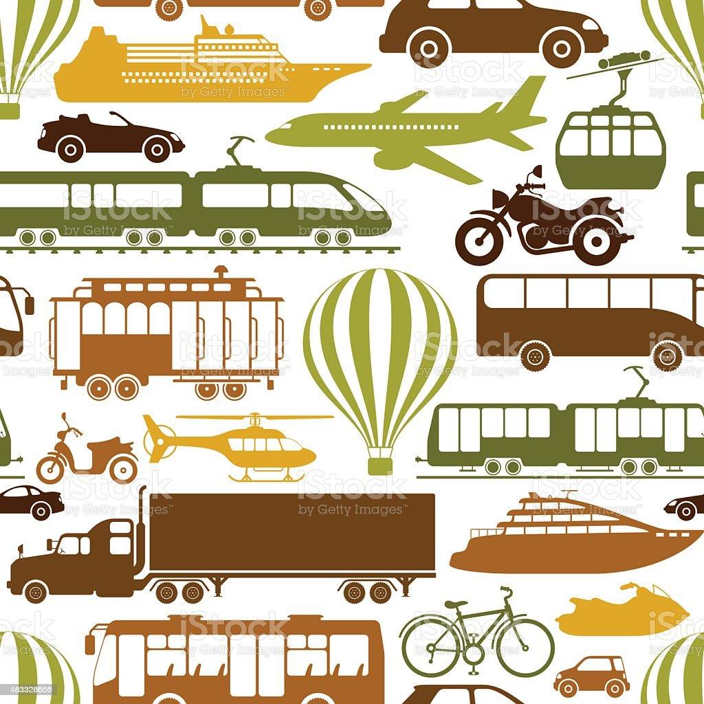 Transportation mode Pattern vector art illustration