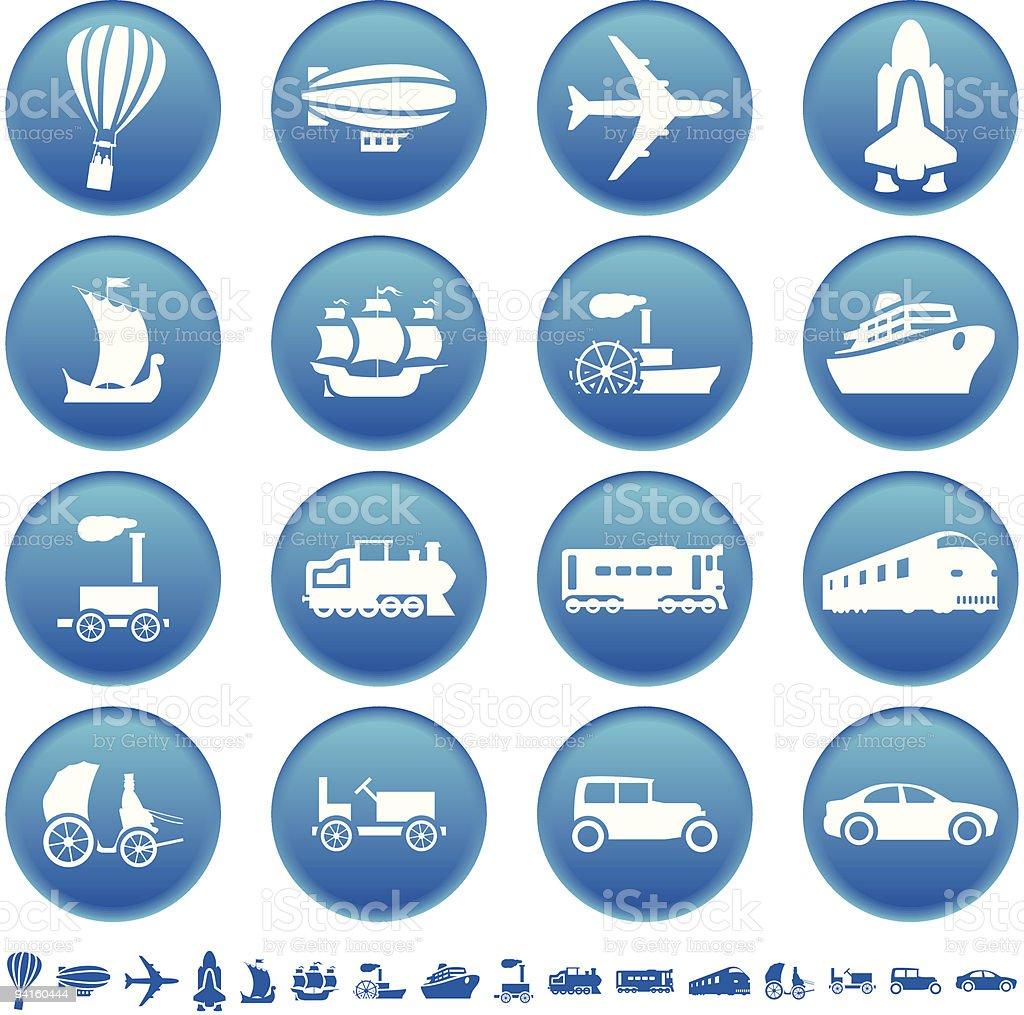 Transport des icônes stock vecteur libres de droits libre de droits