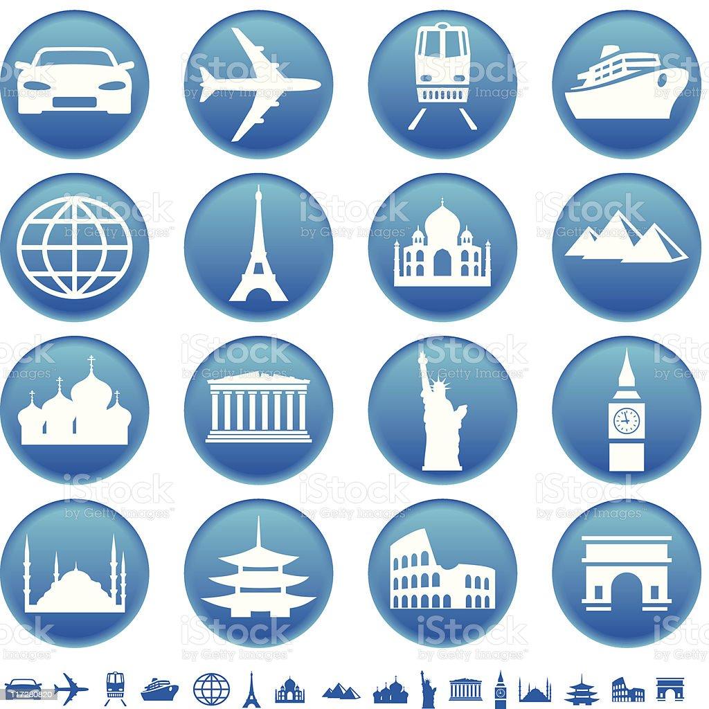 Transportation & sights royalty-free stock vector art