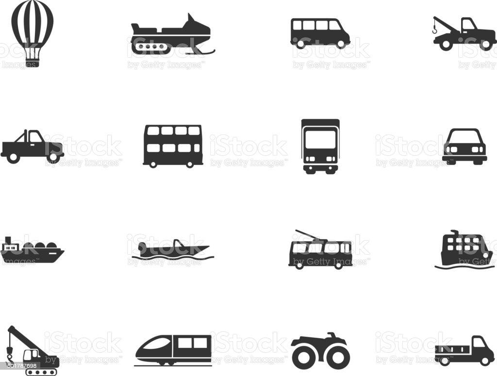 Transportation simply icons vector art illustration