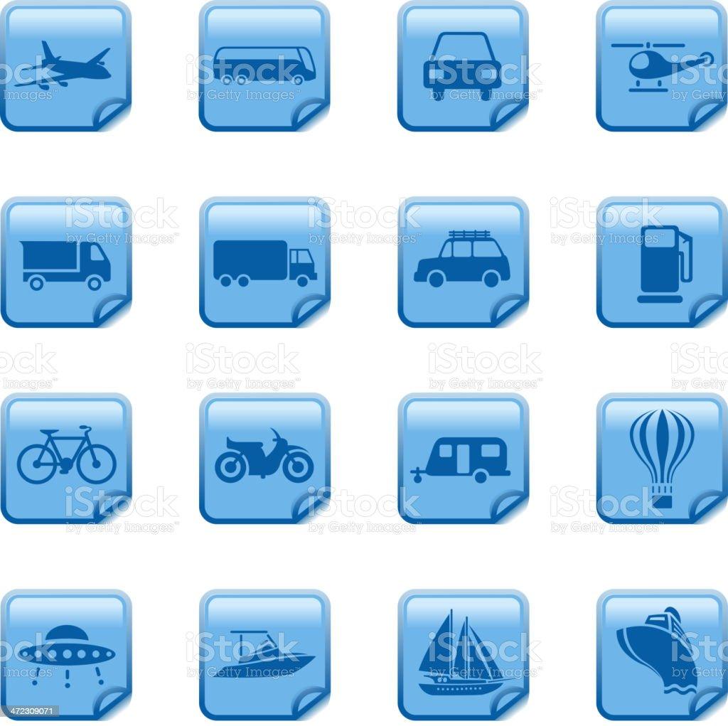 transportation symbols royalty-free stock vector art