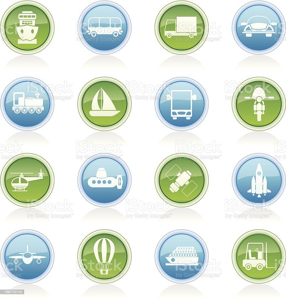 Transportation, travel and shipment icons royalty-free stock photo