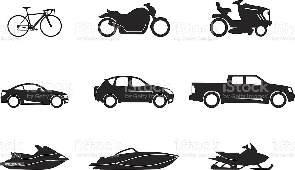 Transportation vector art illustration