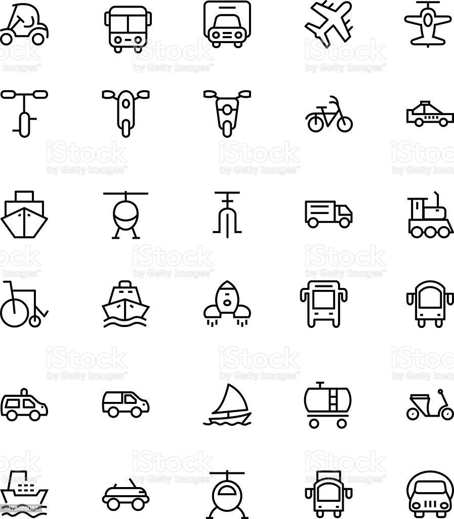 Transportation Vector Line Icons 2 vector art illustration