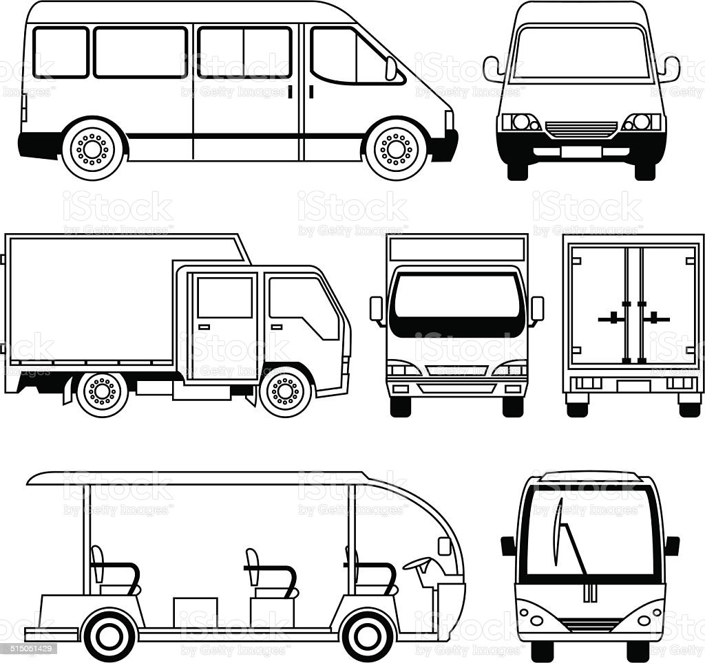 Transportation Vehicle Collection vector art illustration