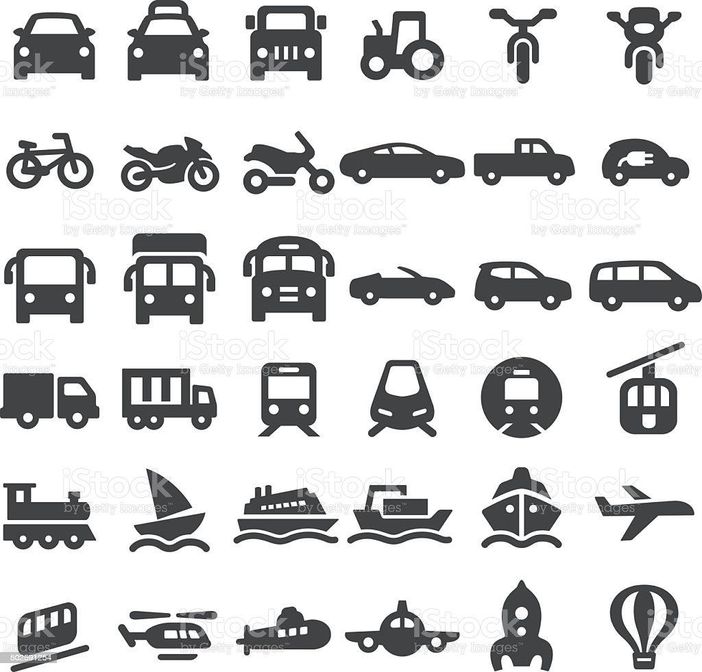 Transportation Vehicles Icons - Big Series vector art illustration