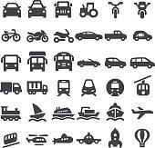 Transportation Vehicles Icons - Big Series