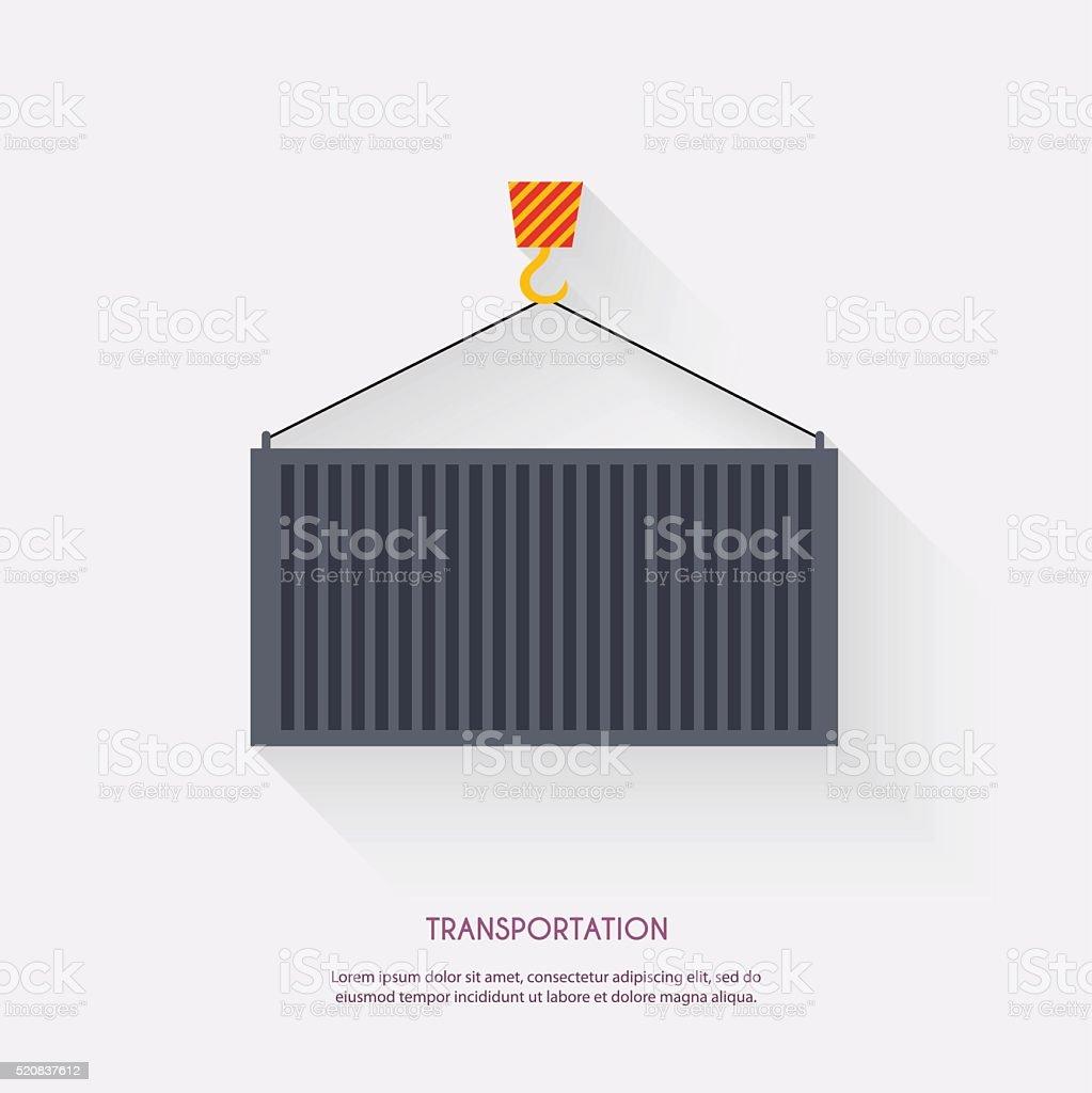 Transportation. Warehouse icons logistic blank and transportatio vector art illustration