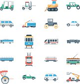 Transports Colored Vector Icons 3