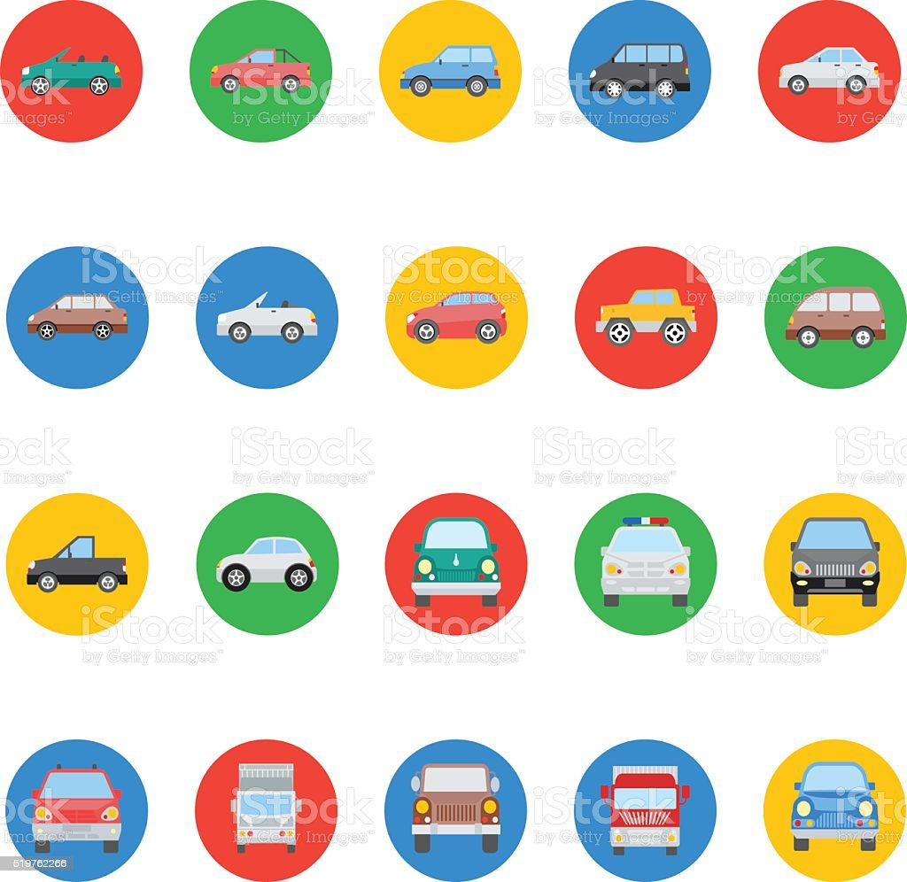 Transports Vector Icons 1 vector art illustration