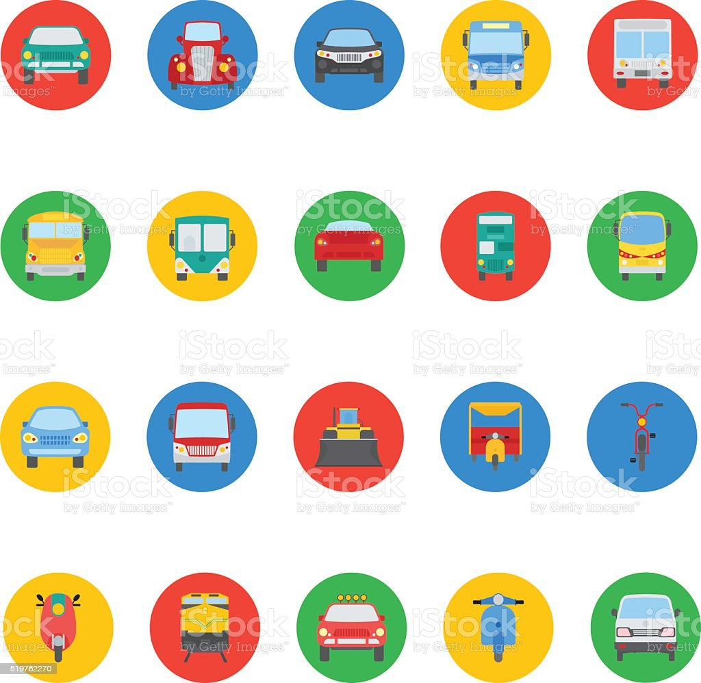 Transports Vector Icons 3 vector art illustration