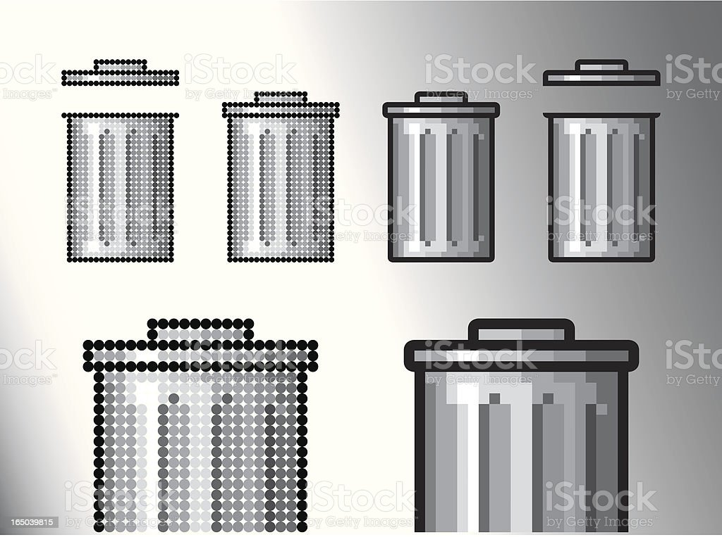 Trash can (Vector) royalty-free stock vector art