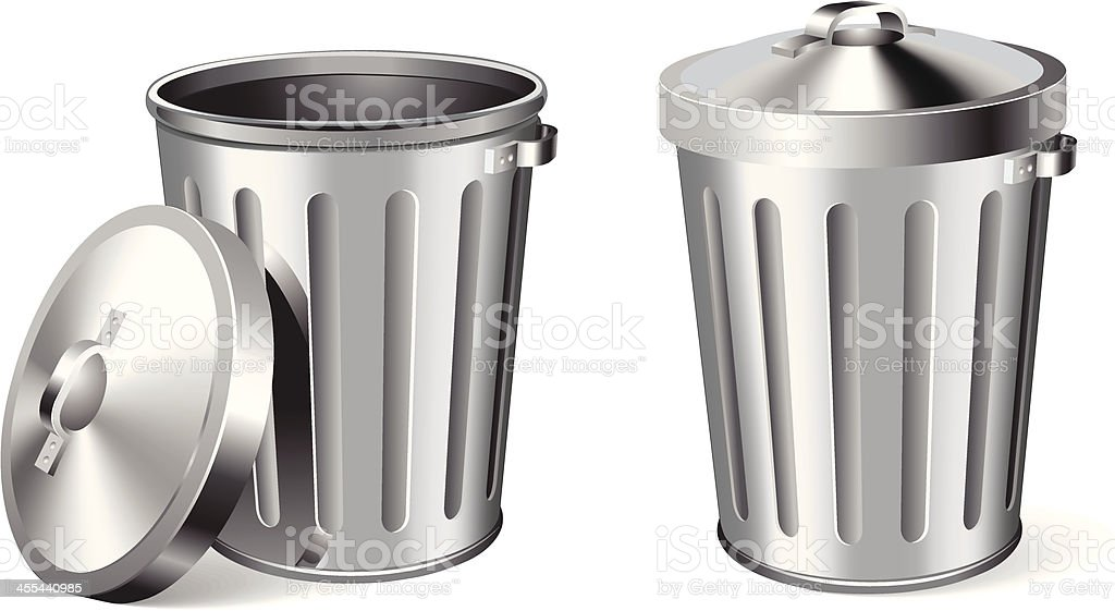 Trash Can royalty-free stock vector art