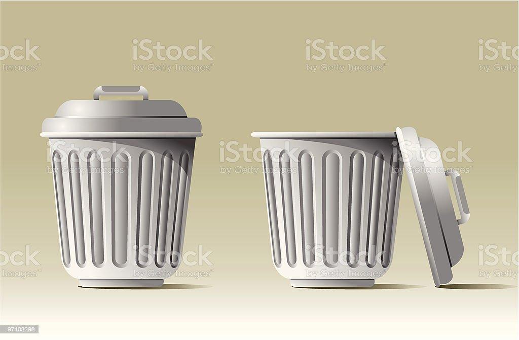 Trash cans royalty-free stock vector art