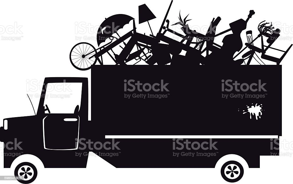 Trash collection clip-art vector art illustration