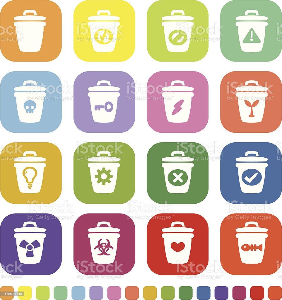 Trash Icon royalty-free stock vector art