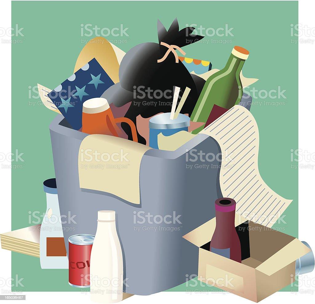 Trash Pile royalty-free stock vector art