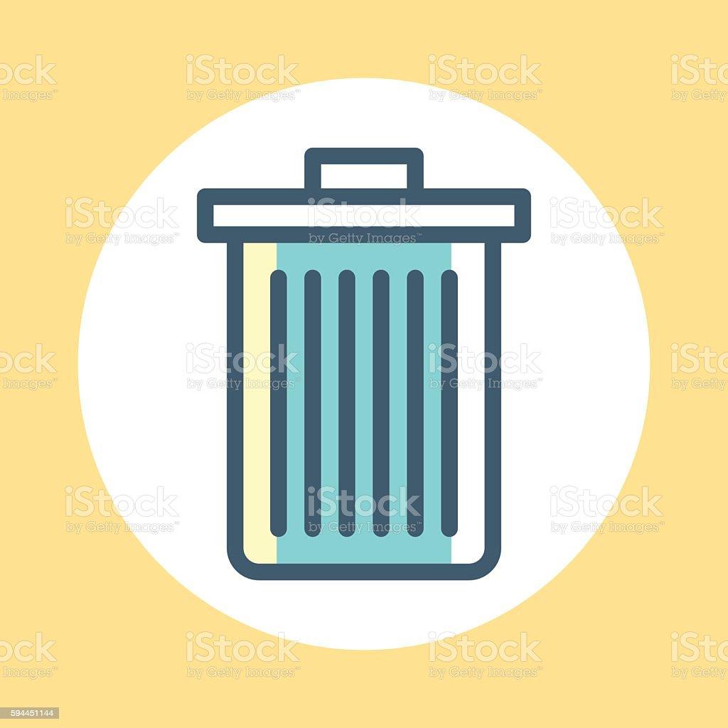 Trash Symbol vector art illustration