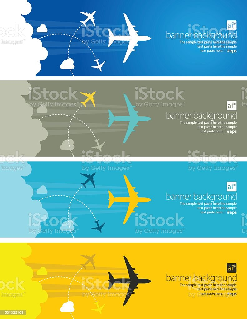 Travel abstract banner vector art illustration