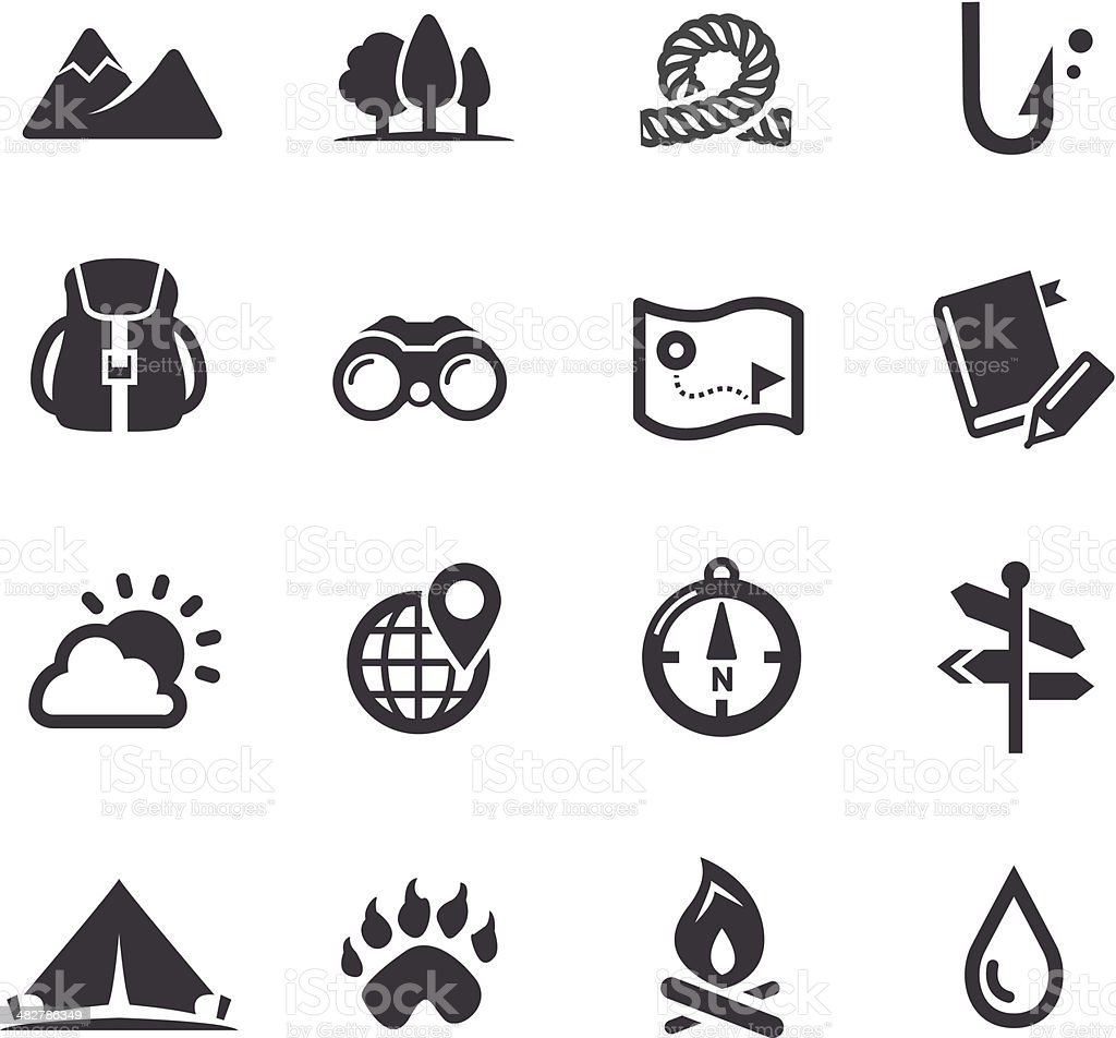 Travel, Adventure and Camping Icons - Acme Series vector art illustration