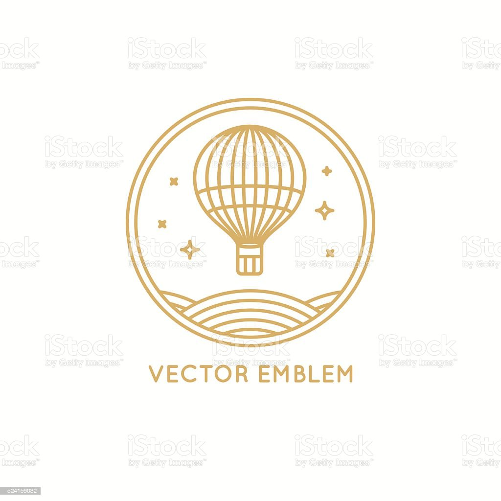 Travel agency concept in linear style vector art illustration