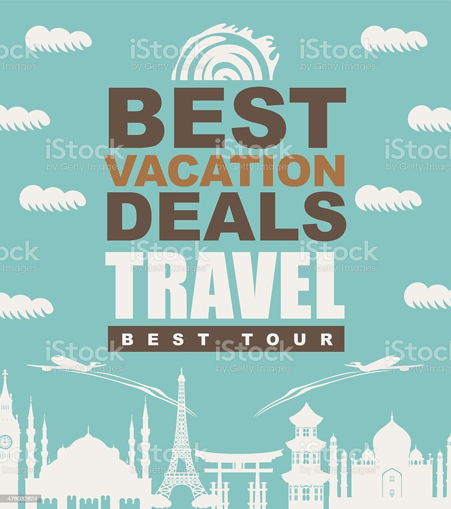 travel agency vector art illustration