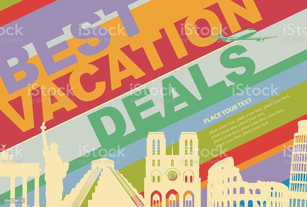 travel agency vector art illustration